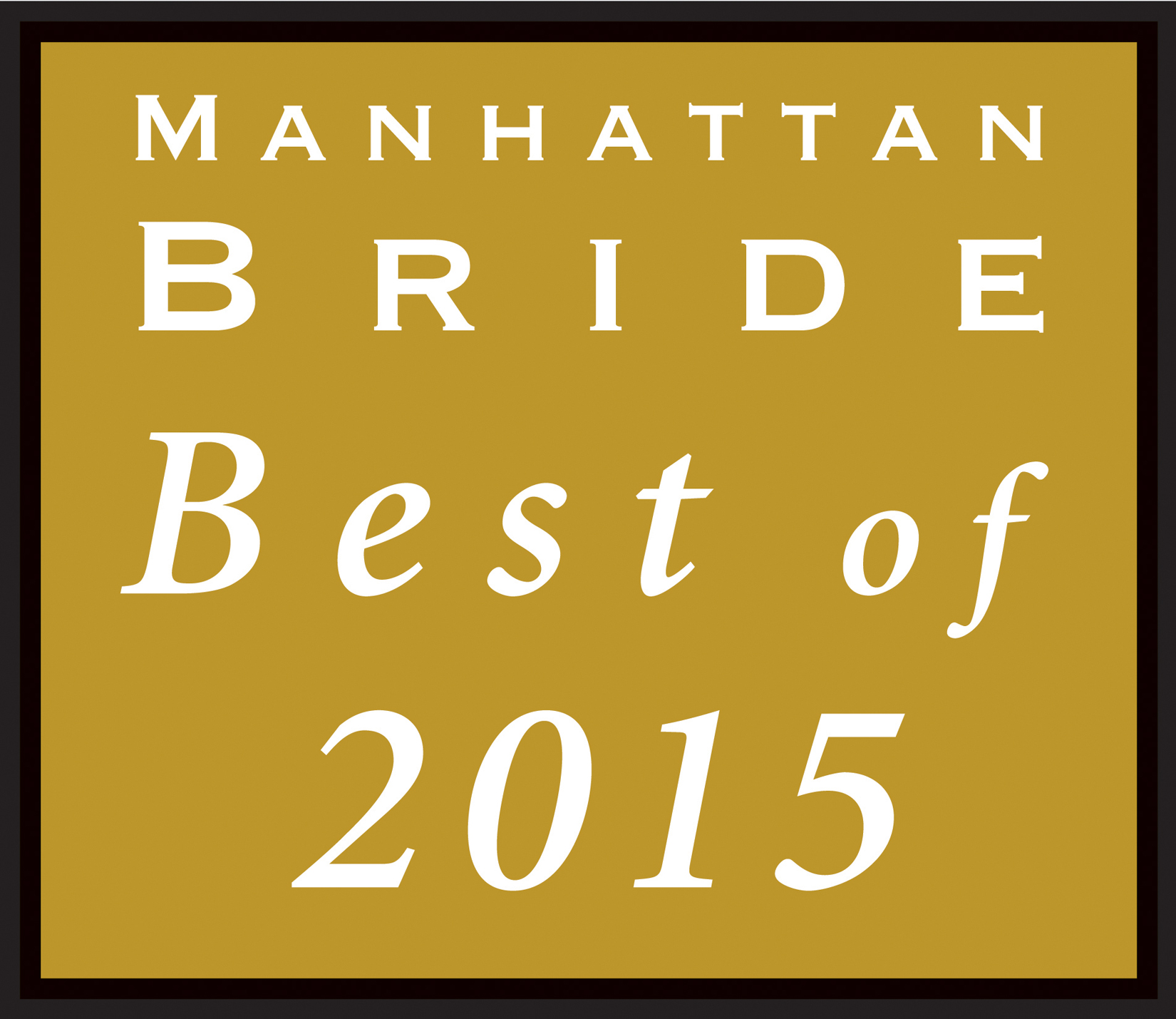"CRAIG SCOTT ENTERTAINMENT NAMED  ""BEST OF 2015"" BY MANHATTAN BRIDE"