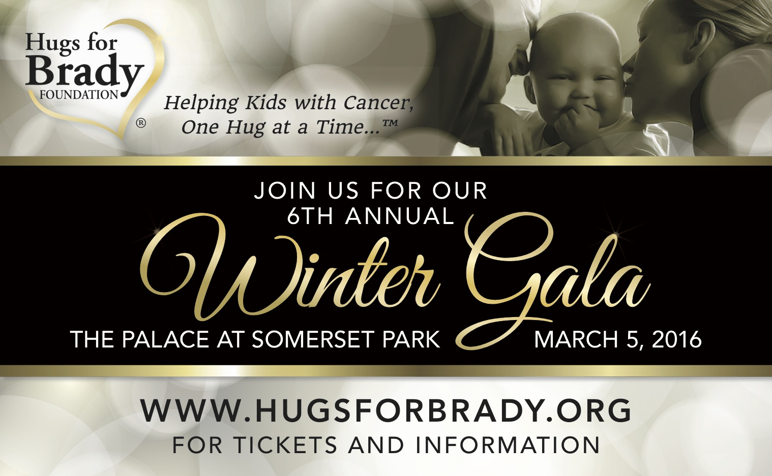CRAIG SCOTT ORCHESTRA TO ENTERTAIN AT HUGS FOR BRADY FOUNDATION WINTER GALA